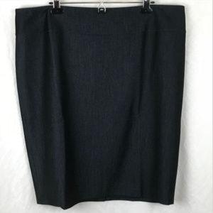 Roz & Ali sz 18 Black Pencil Skirt